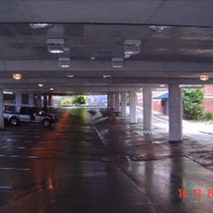 Existing Carpark with New Suspended Slab Over